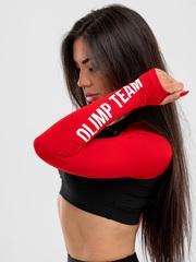 Женский лонгслив Olimp Crop TOP BLACK & RED