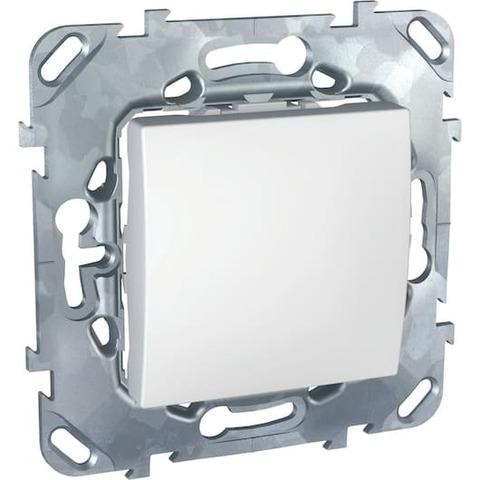 Выключатель одноклавишный. Цвет Белый. Schneider electric Unica. MGU5.201.18ZD