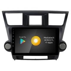 Штатная магнитола на Android 8.1 для Toyota Highlander 07-13 Roximo S10 RS-1122