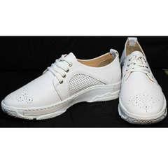 Стильные женские кроссовки повседневные Derem 18-104-04 All White