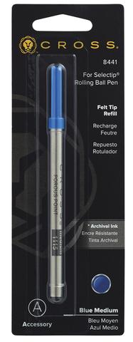 Cross Стержень капиллярный для ручки-роллера Selectip, M, синий123