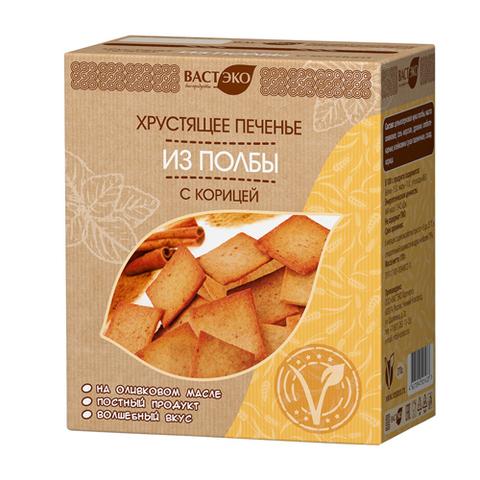 Вастэко хрустящее печенье из полбы с корицей 170 гр