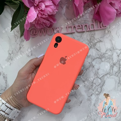 Чехол iPhone XR Silicone Slim Case /coral/