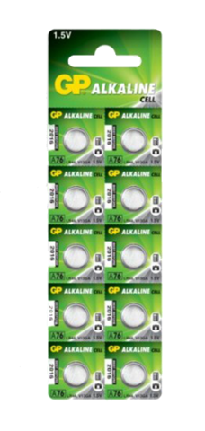 Батарейки GP A76-U10 Alkaline AG 13, LR44