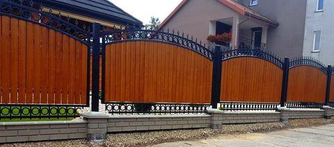 Ковано деревянный забор N-2