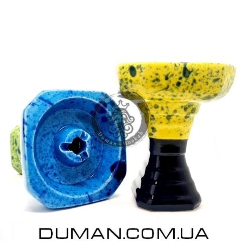 Чаша GrynBowls для кальяна |Hexahedron Black-Yellow
