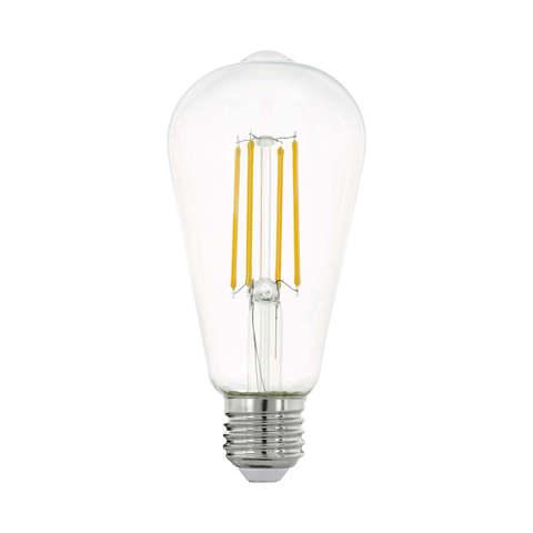 Лампа LED филаментная прозрачная Eglo CLEAR LM-LED-E27 7W 806Lm 2700K ST64 11757