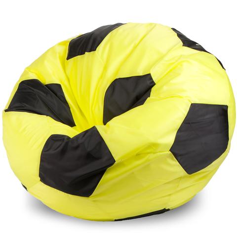 Бескаркасное кресло «Мяч» XXL, Желтый и черный