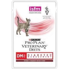 Пауч для кошек, Purina Pro Plan Veterinary Diets DM, при диабете с говядиной