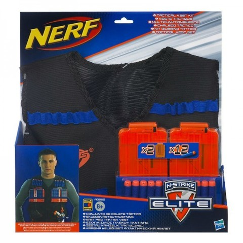 Hasbro: Nerf Элит Жилет Агента с 12 стрелами и 2 обоймами A0250 — Nerf N-Strike Elite Tactical Vest — Нерф Нёрф Хасбро