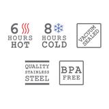 Ланч-бокс термос для горячей еды и супа стальной с ложкой Thermo-pot для горячего Black+Blum TP001 | Купить в Москве, СПб и с доставкой по всей России | Интернет магазин www.Kitchen-Devices.ru