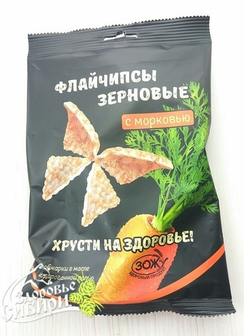 Флайчипсы с морковью, 40 г