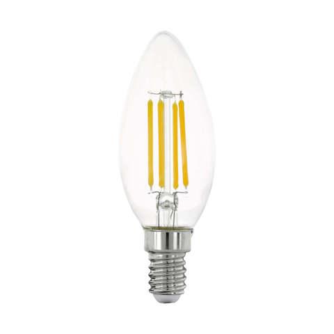 Лампа LED филаментная прозрачная Eglo CLEAR LM-LED-E14 4W 470Lm 2700K C35 11759