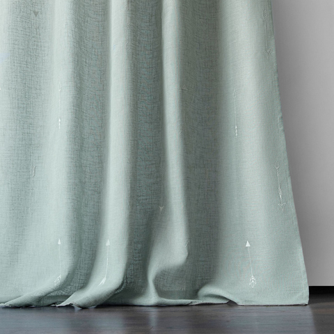 Комплект штор Стрелки с вышивкой серо-голубой