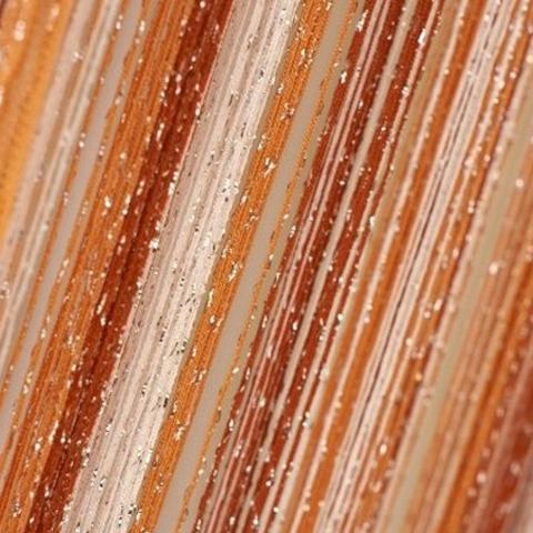 Шторы радуга дождь - Белые, терракот, оранжевый. Ш-300см., В-280см. Арт. 1-2-3