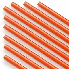 Трубочки полимерные для шаров, флагштоков и сахарной ваты Оранжевые (100 шт), диаметр 5 мм, длина 370 мм