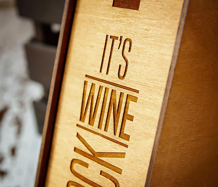 BOX244 Коробка из дерева для бутылки вина (33*10*10,5 см) фото 03