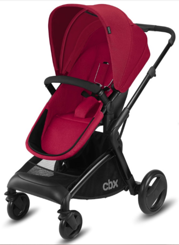 Коляска 2 в 1 CBX by Cybex Bimisi Pure Crunchy Red