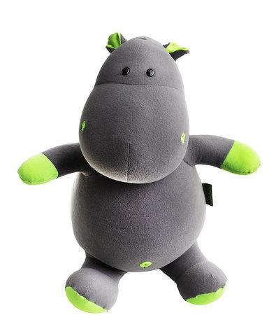 Подушка-игрушка антистресс «Бегемот Няша», зеленый