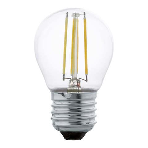 Лампа LED филаментная прозрачная Eglo CLEAR LM-LED-E27 4W 470Lm 2700K G45 11762