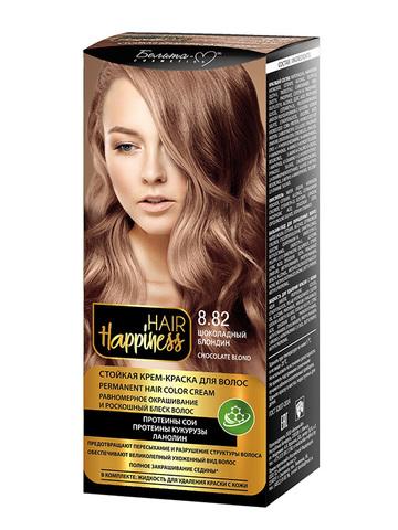Белита-М Hair Happiness Крем-краска для волос аммиачная №8.82 шоколадный блондин