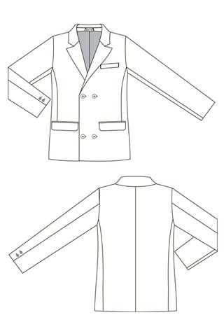 Выкройка двух бортного пиджака для мальчика