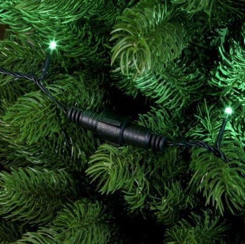 Гирлянда зеленая 10 метров нить 100 светодиодов соединяются между собой