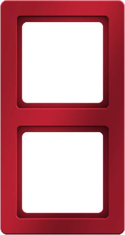 Рамка на 2 поста. Цвет Красный. Berker (Беркер). Q.1. 10126062