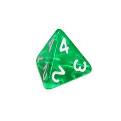 Куб D4 прозрачный: Зеленый