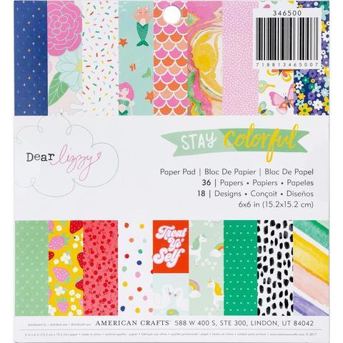 Набор односторонней бумаги  15х15см -Dear Lizzy Stay Colorful- 36л