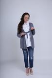 Блузка для беременных 01052 серый