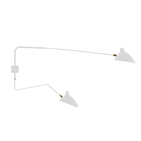 Настенный светильник AP2B1C Two Arms by Serge Mouille (белый)