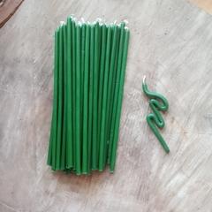 Восковые свечи  зеленые