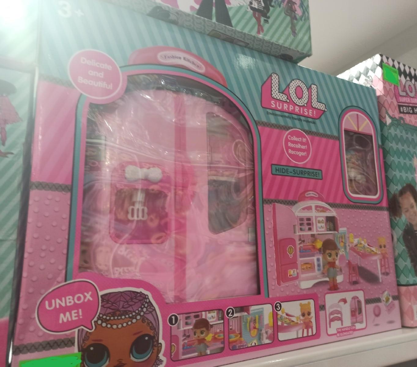 Кухонный шкаф с куклами Лол большой набор