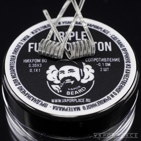 Triple Fused Clapton (NiCr 0,35х3 NiCr 0,1) 3мм 0,1 Ом