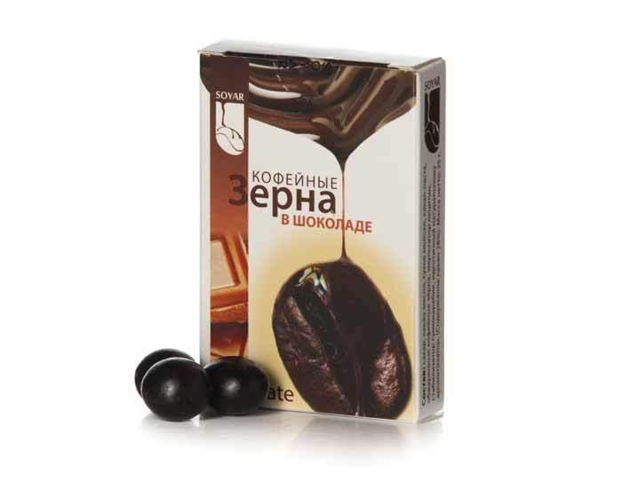 Кофейные зерна в шоколаде Soyar «Капучино», 25 г