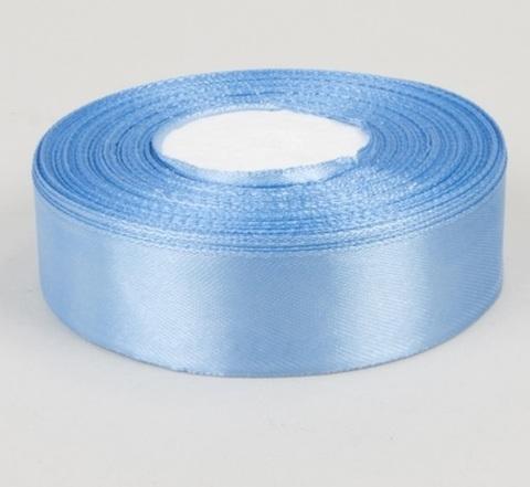 Лента атласная (размер 25 мм х 30 м) Цвет: голубая