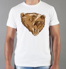 Футболка с принтом Медведь, Медвежонок (Bear) белая 006