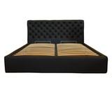 Кровать Венеция, обивка натуральная кожа