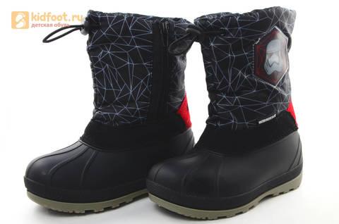 Зимние сапоги для мальчиков непромокаемые с резиновой галошей Звездные войны (Star Wars), цвет черный, Water Resistant. Изображение 8 из 16.