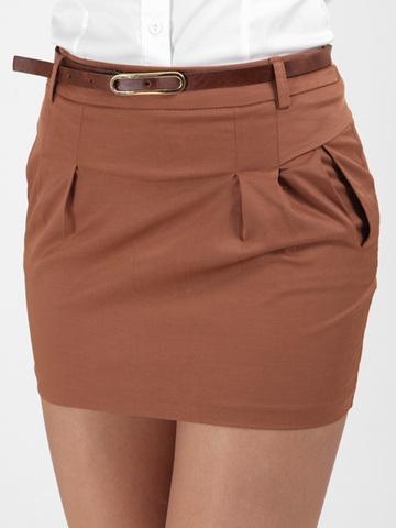 2049-1 юбка коричневая