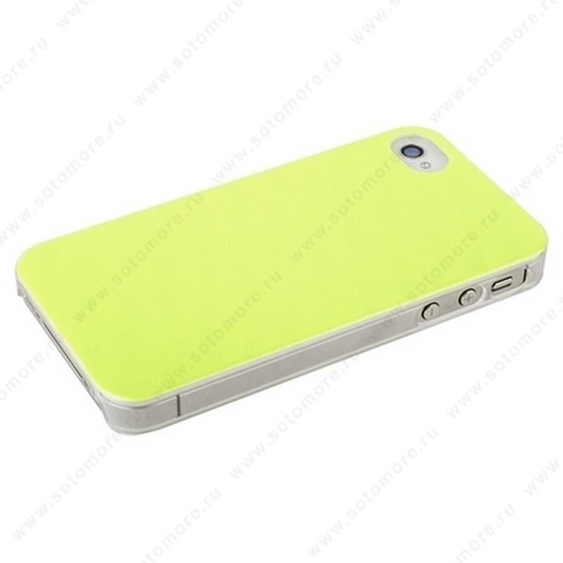 Накладка POMOSER для iPhone 4s/ 4 лимонная