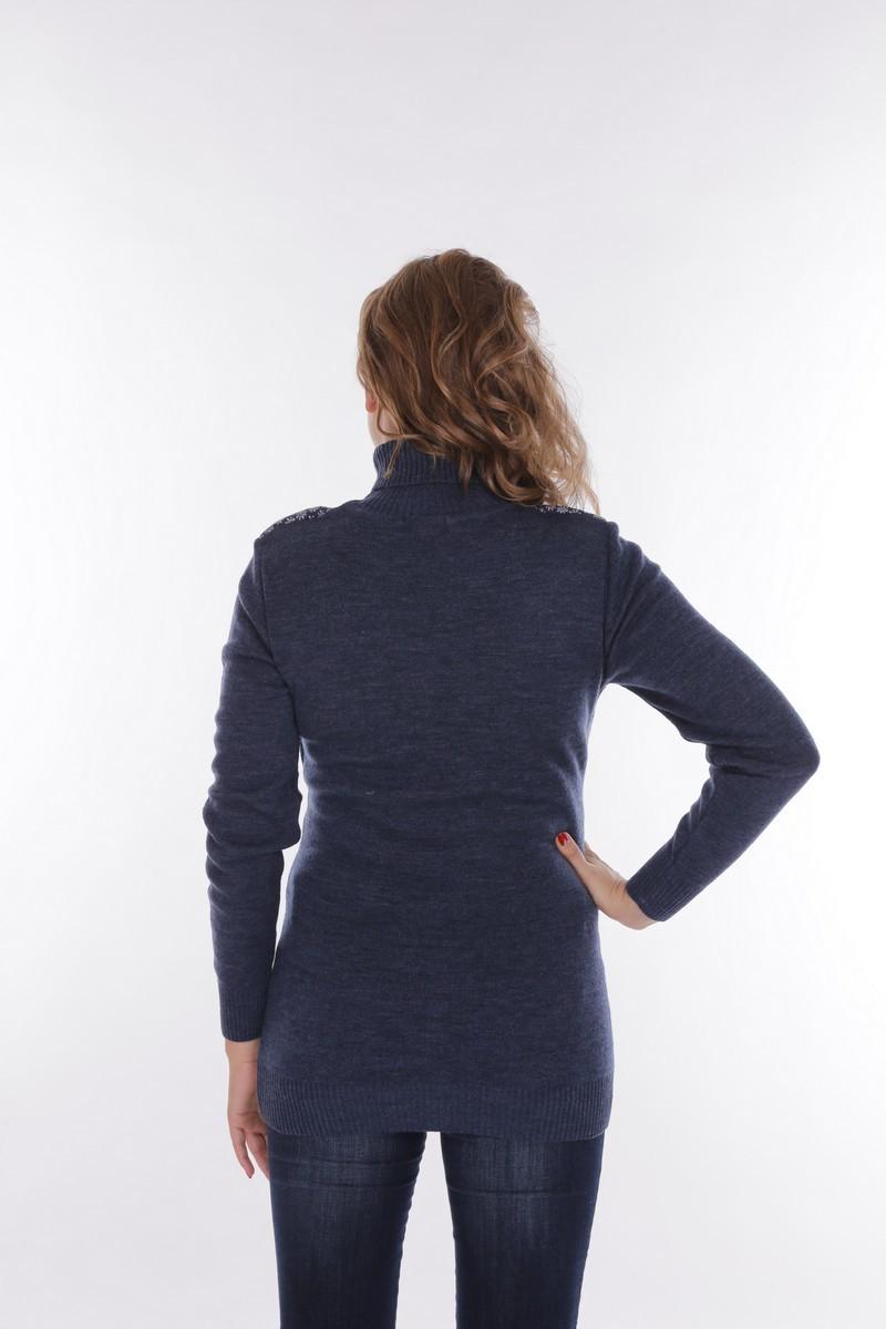 Свитер для беременных и кормящих 09210 синий