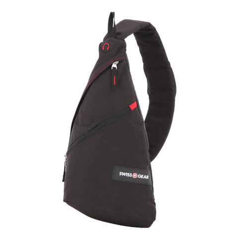 Рюкзак с одним плечевым ремнем Swissgear черный/красный