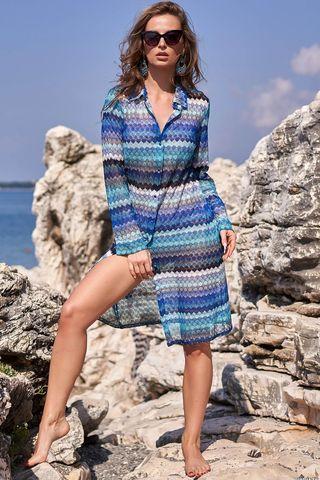 Рубашка Missoni 8247 голубой Mia-Amore