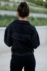 Черная джинсовая куртка оверсайз интернет магазин