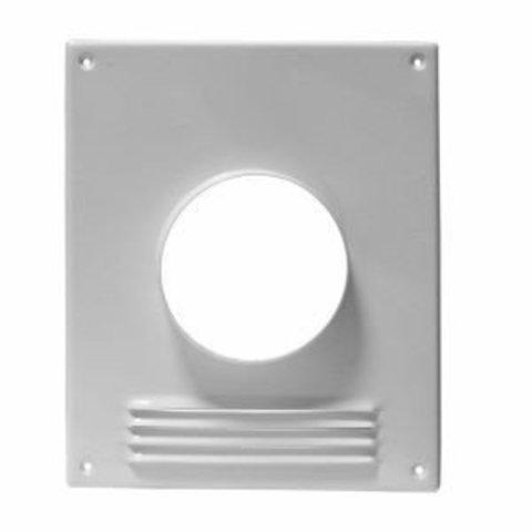 100ПТМР Площадка торцевая стальная 197х238/ф100 с решеткой, с полимерным покрытием эмалью