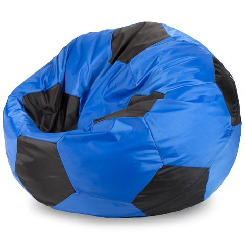 Бескаркасное кресло «Мяч» L, Синий и черный