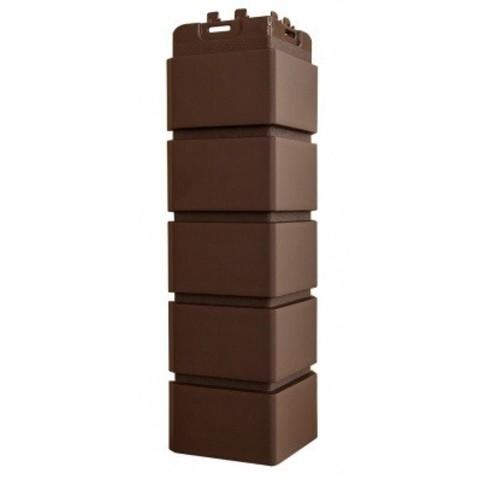 Угол наружный Гранд Лайн Клинкерный кирпич коричневый 410х120 мм