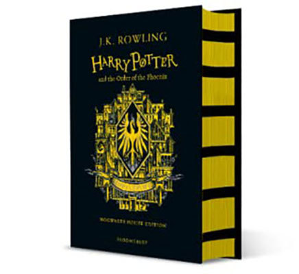 Harry potter and the order of the phoenix - hufflepuff edition + hufflepuff a6 notebook: hufflepuff notebook pre-order offer